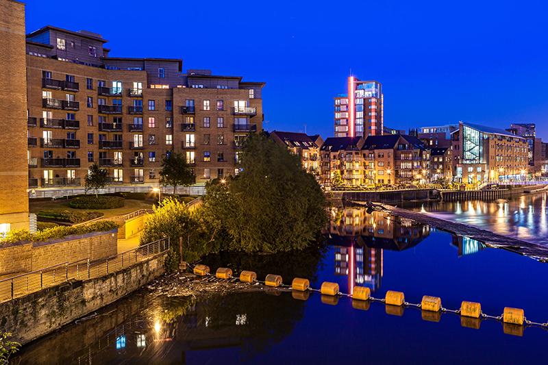 Clarence Dock in Leeds.