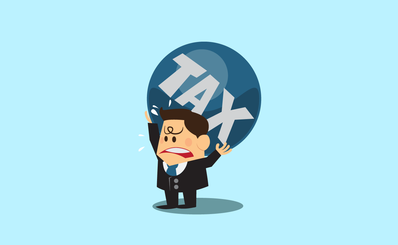 Man Burdened by Taxes.