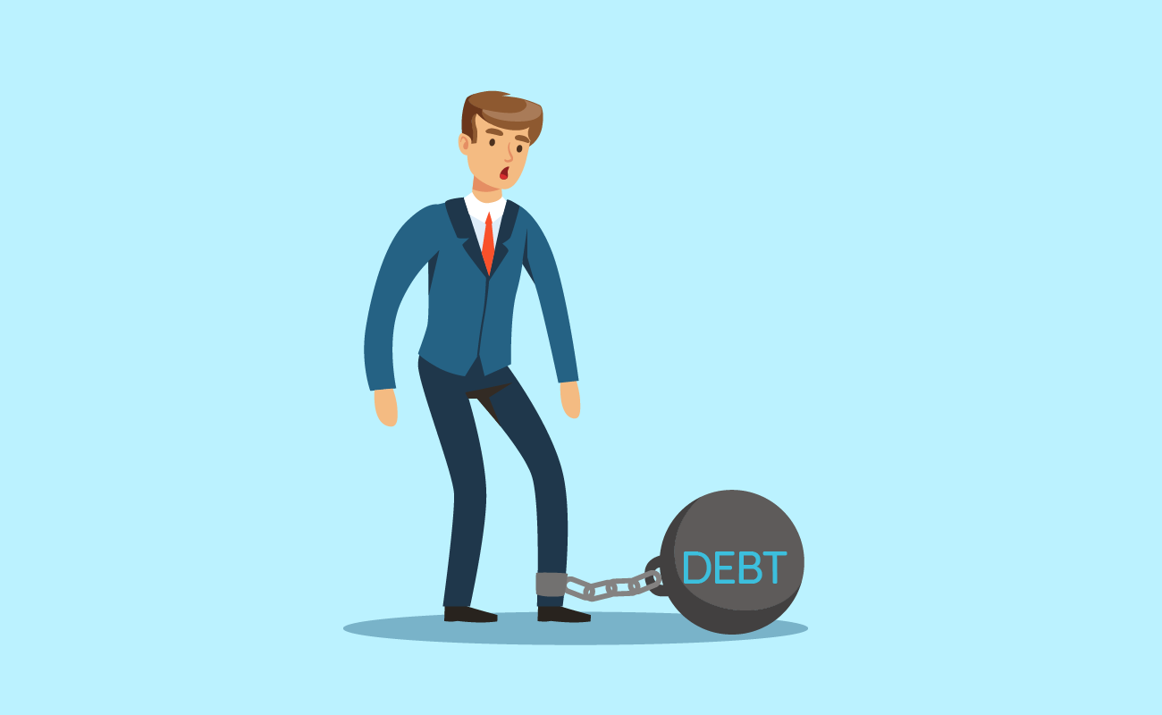 Man Chained to His Debt.