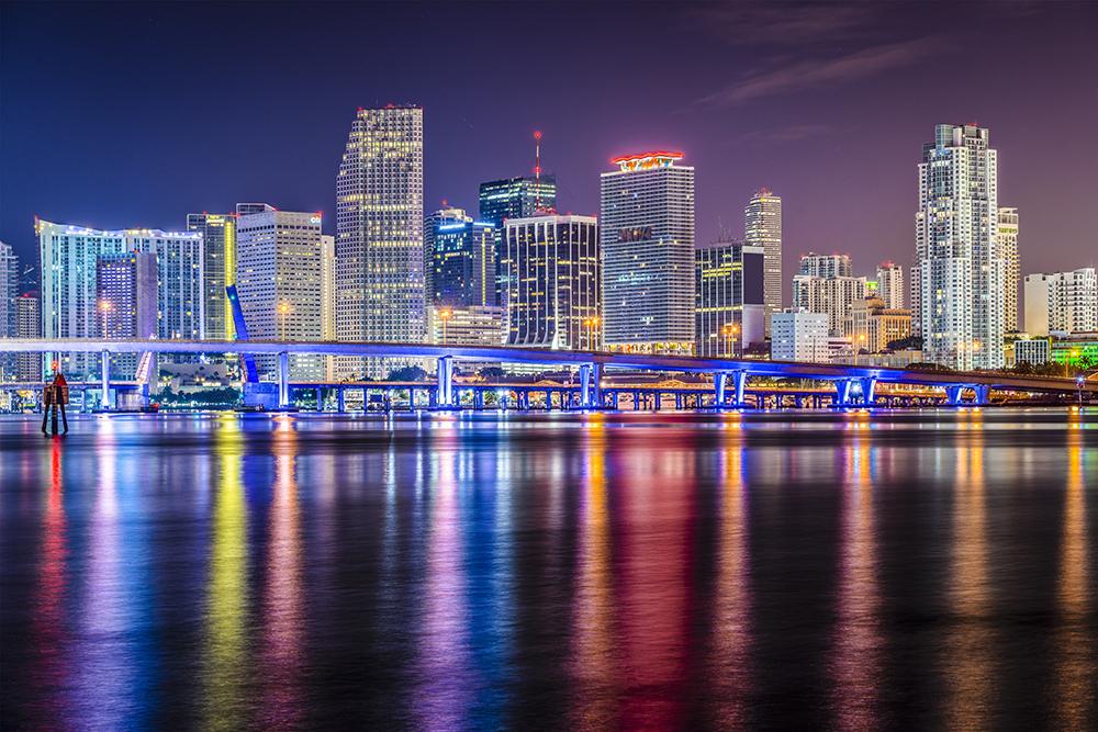Miami Skyline at Night.