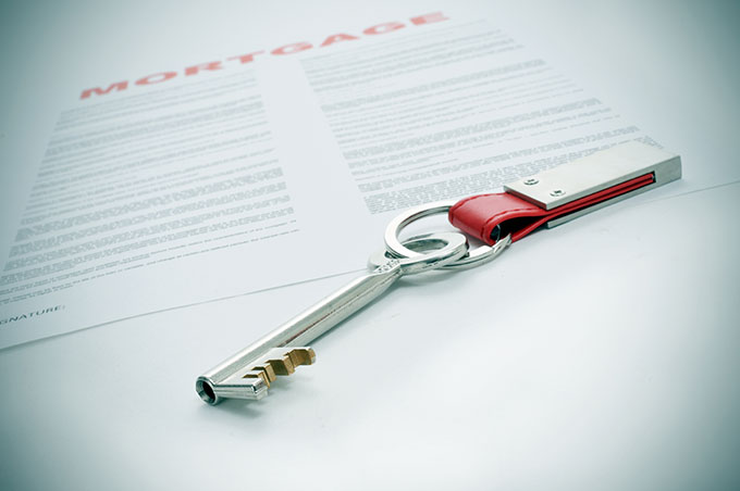 key on mortgage document