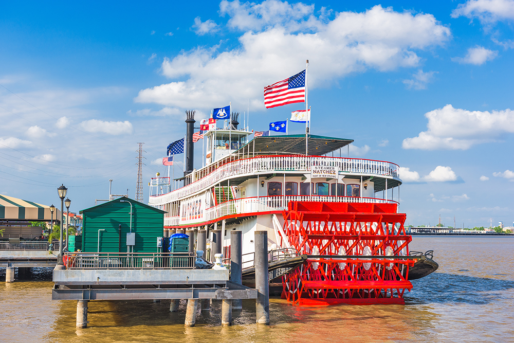Natchez Steamboat on the Mississippi River.