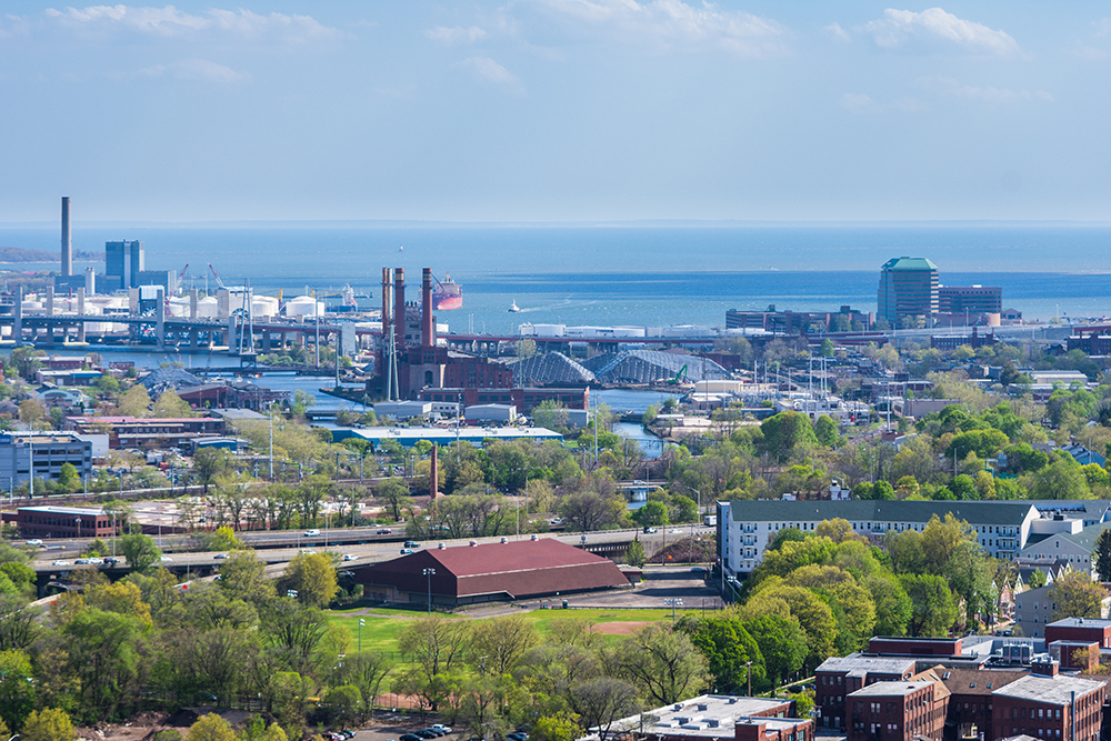 Aerial View of New Haven.
