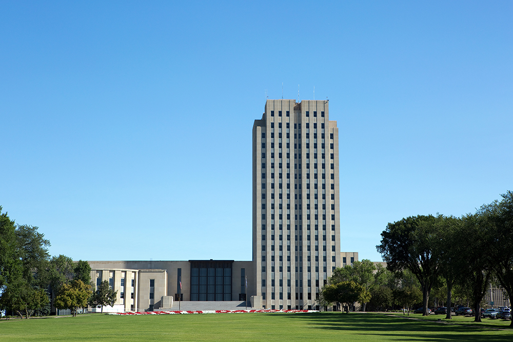 North Dakota State Capitol Building in Bismarck.