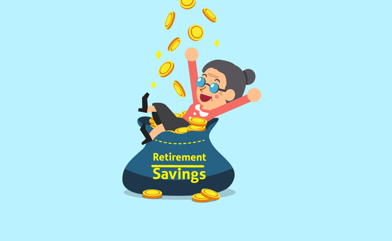 Old woman with retirement savings.