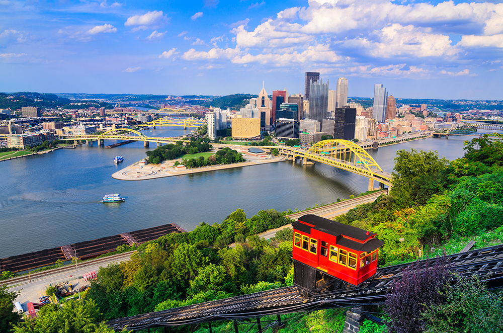 Pittsburgh Skyline and Incline.
