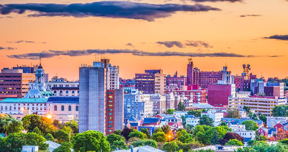 Portland, Maine Skyline.
