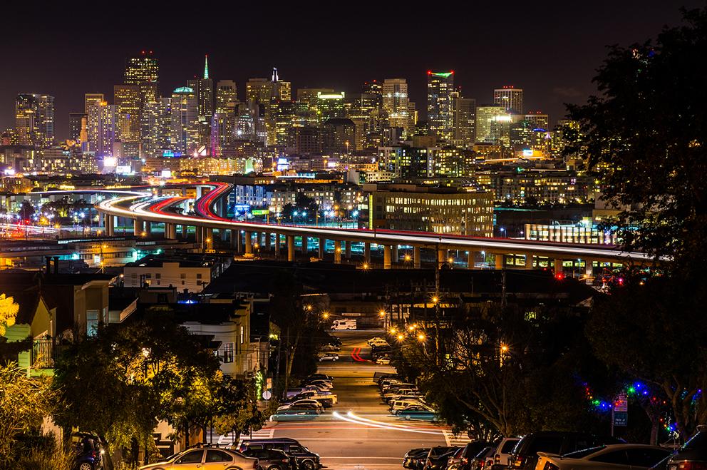 Portrero Hill in San Francisco.
