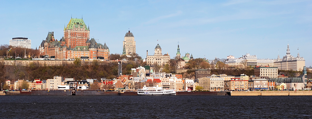 Quebec City Harbor.