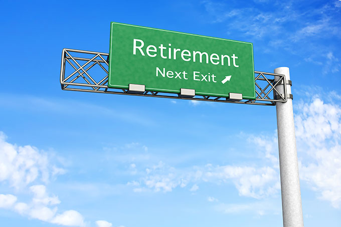 sign for retirement