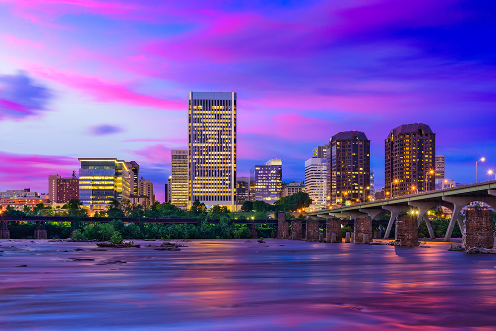 Richmond, Virginia Skyline.
