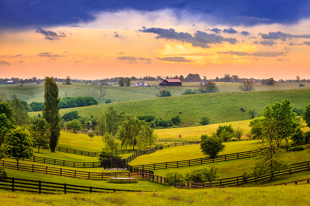 Bluegrass Region of Rural Kentucky.