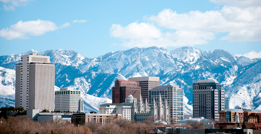 Salt Lake City Skyline.