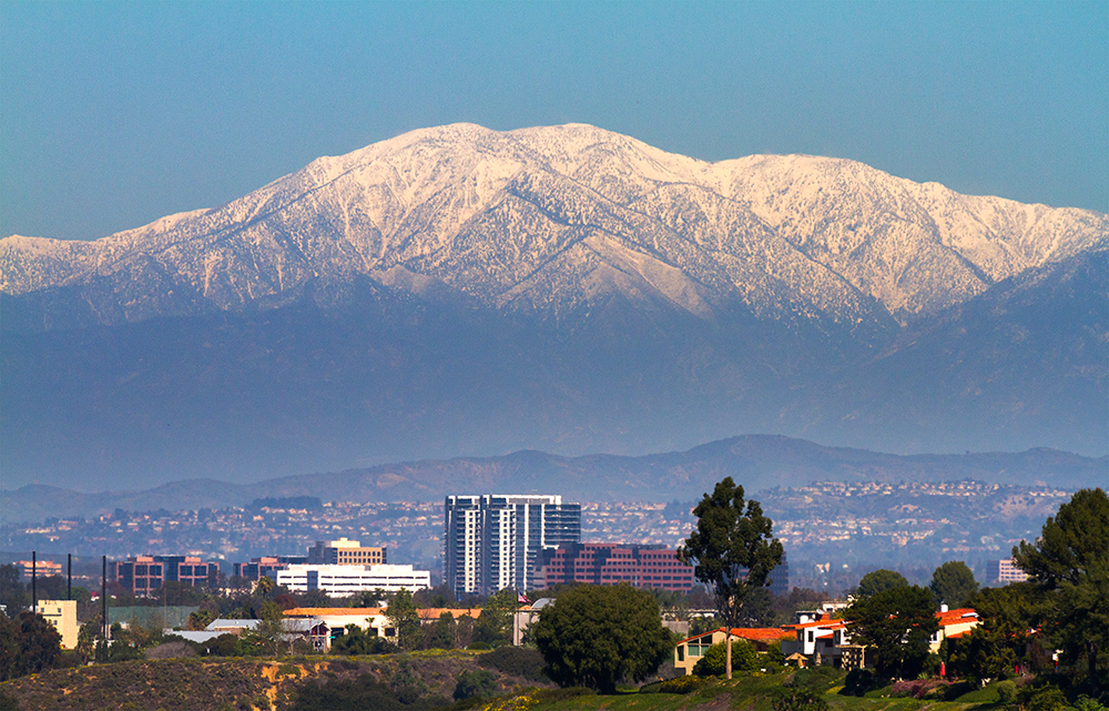San Bernardino Skyline with Mt. Baldy.