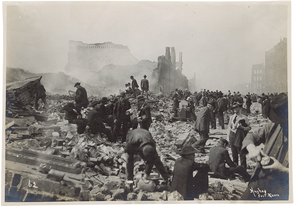 Damage from the 1906 San Fransicso Earthquake.