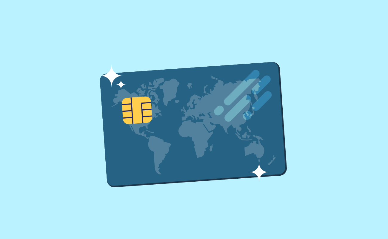 Illustration of a Shiny Credit Card.