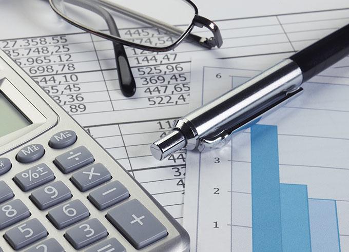 financial spread sheet