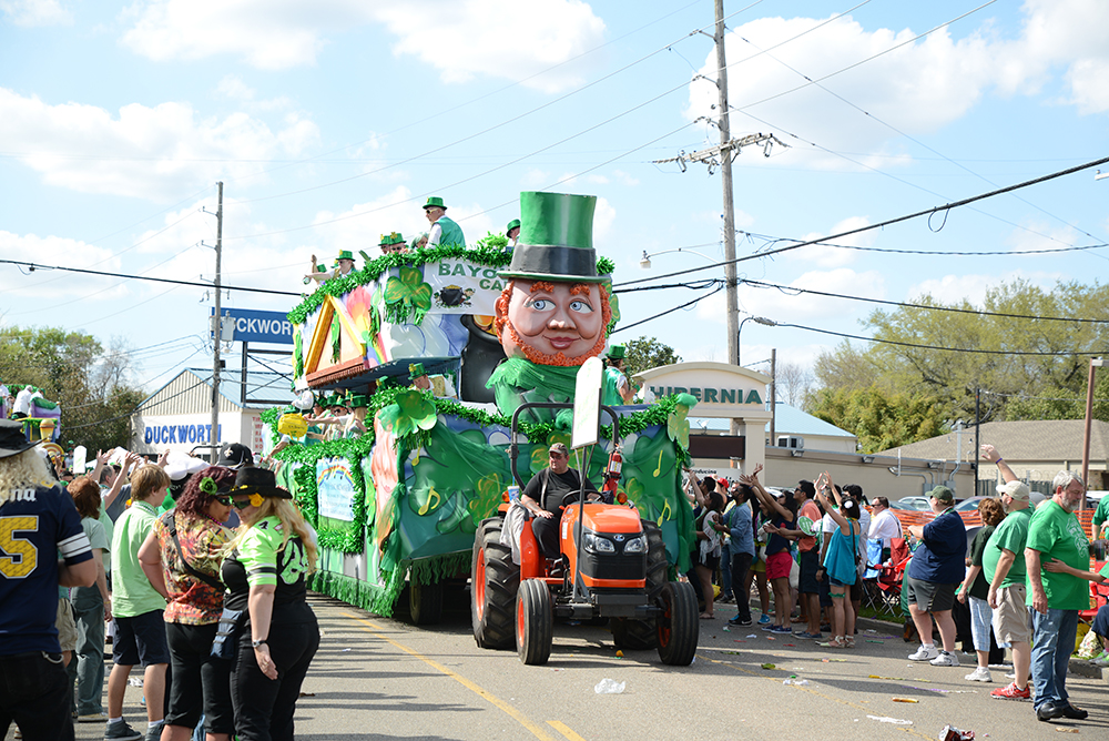 St. Patrick's Day Float in Metairie, LA.