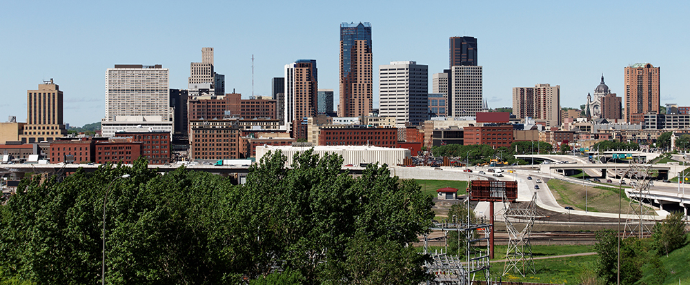 Saint Paul, Minnesota Skyline.