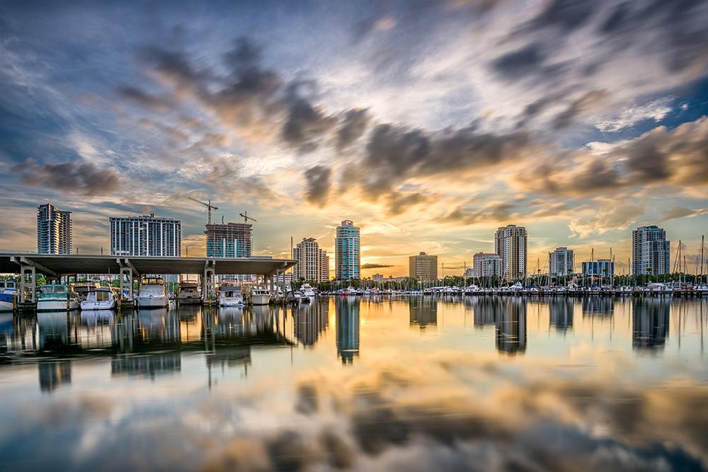 St. Petersburg, Florida Skyline.
