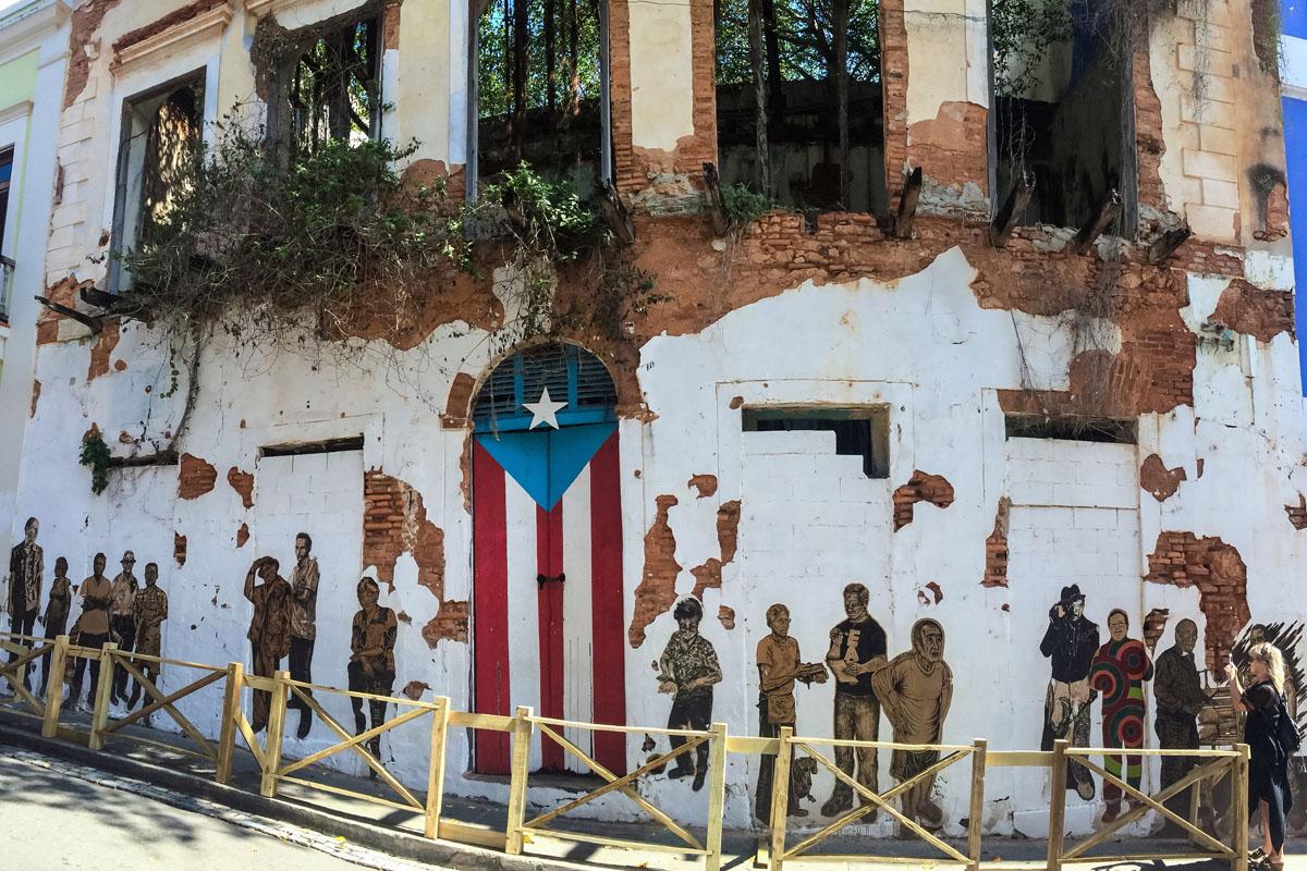 Street mural in Puerto Rico.
