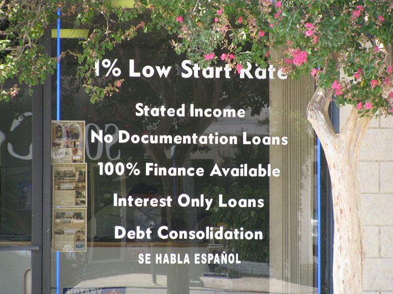 Subprime Mortgage Ad.
