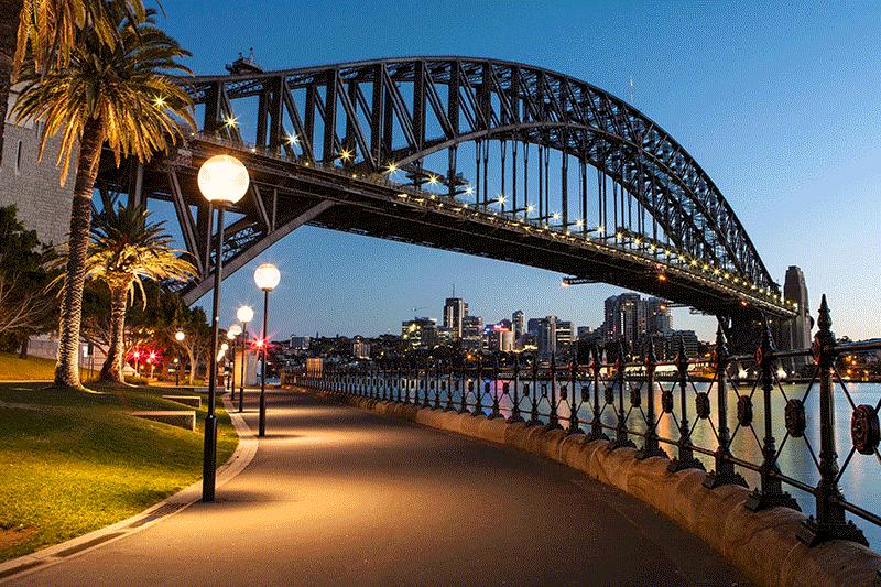 Sydney Harour Bridge.