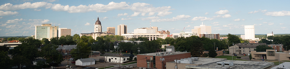 Topeka, Kansas Skyline.