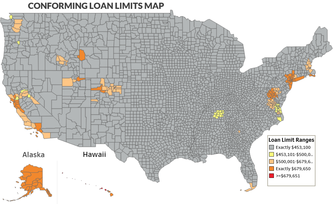 Nationwide Map of Conforming Loan Limits.