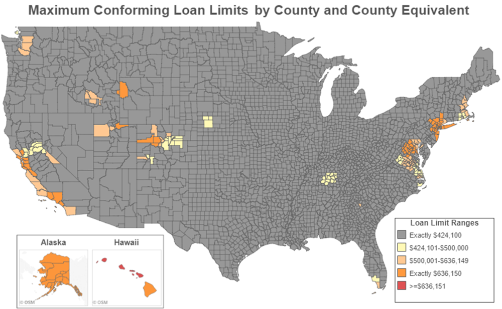 Nationwide Map Of Conforming Loan Limits