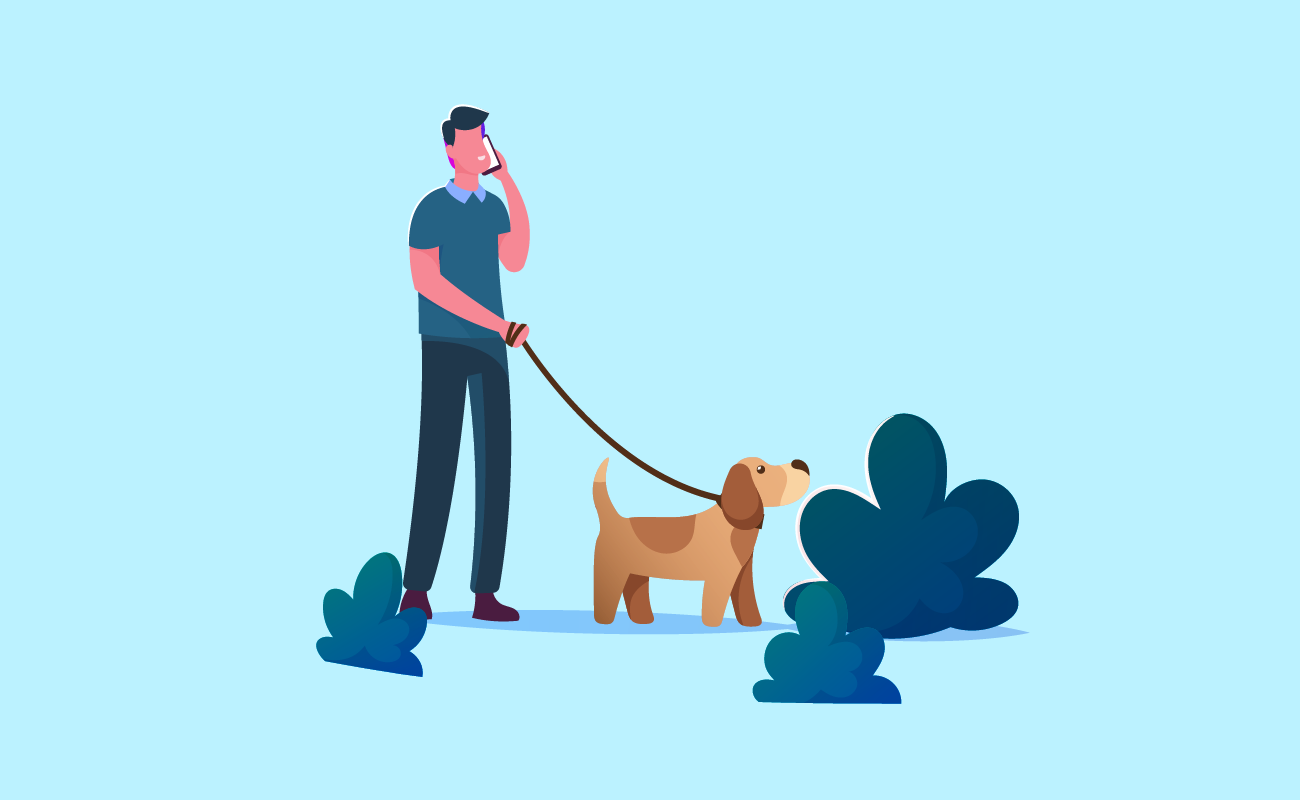 Walking your dog.