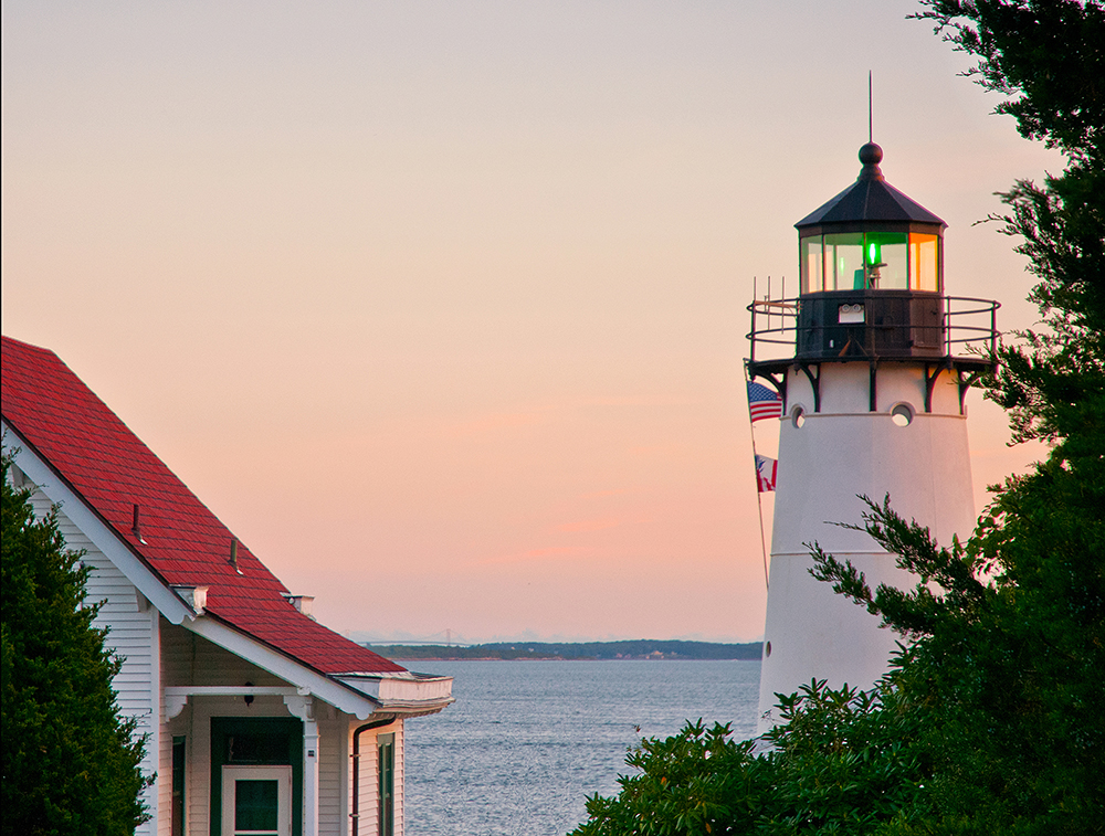 Warwick Harbor Lighthouse.