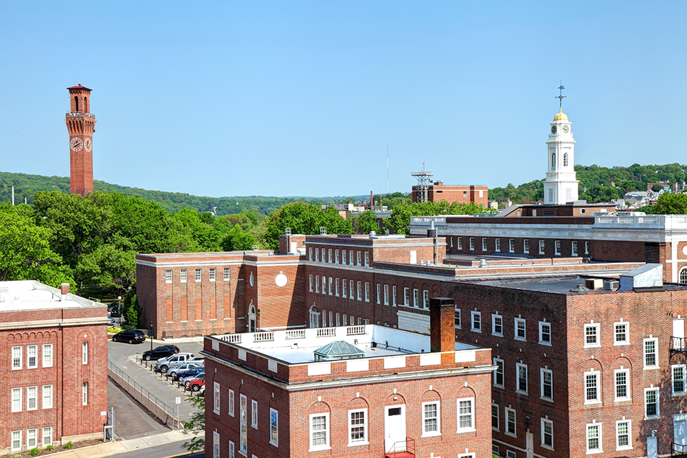 Waterbury, CT Skyline.