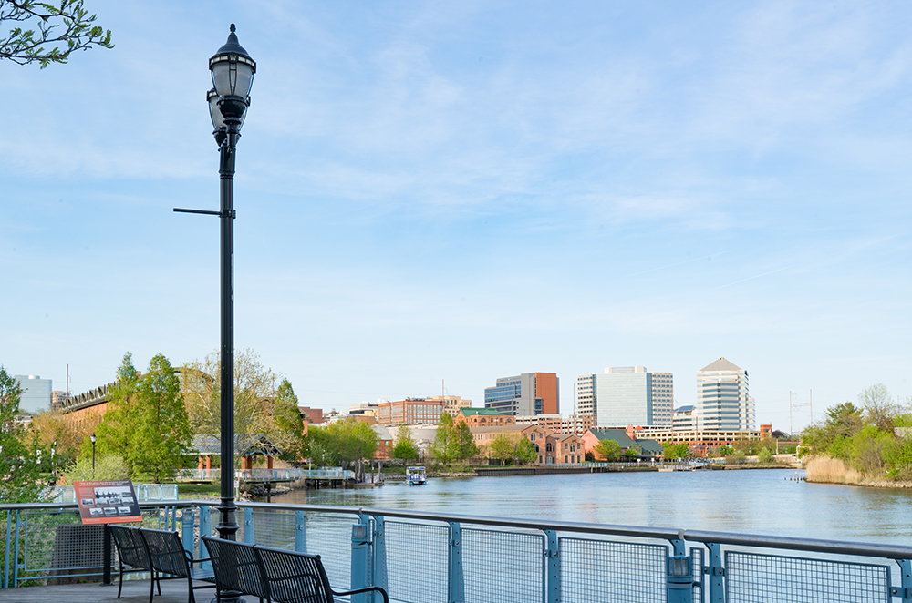 Wilmington, Delaware Waterfront.