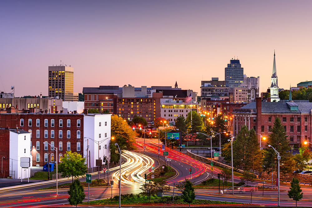 Worcester, Massachusetts Skyline.