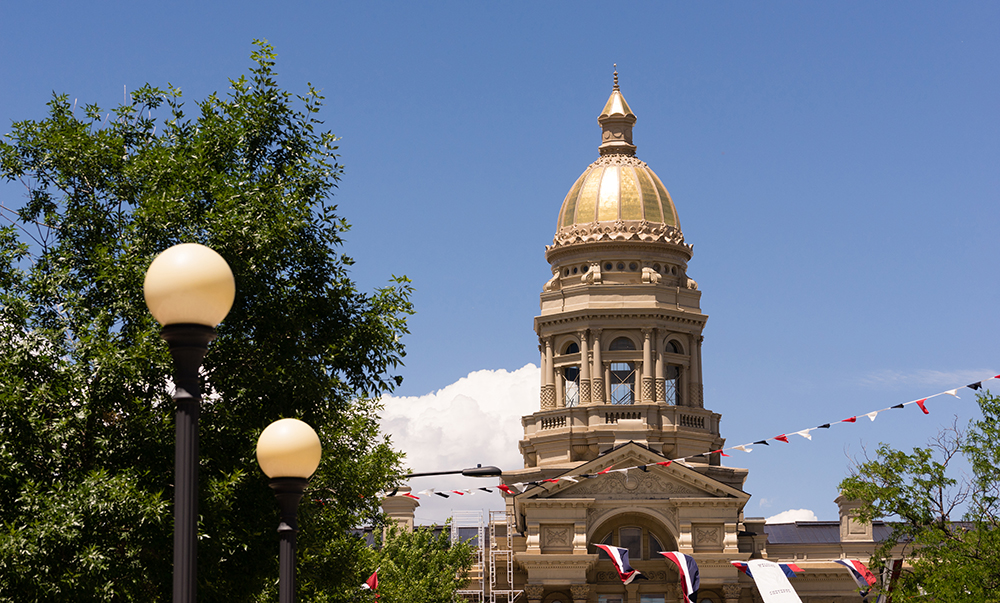 Wyoming State Capitol Building in Cheyenne.